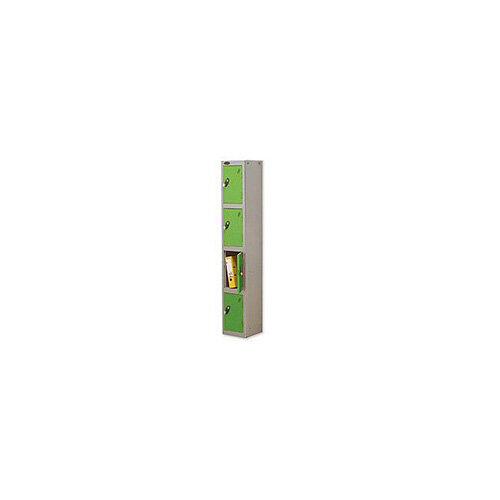 Probe 4 Door Locker Hasp &Staple Lock Extra Depth ACTIVECOAT W305xD460xH1780mm Silver Green