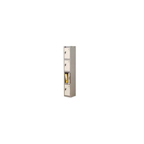 Probe 4 Door Locker Hasp &Staple Lock Extra Depth ACTIVECOAT W305xD460xH1780mm Silver White