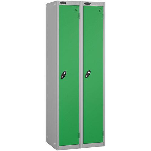 Probe 1 Door Locker ACTIVECOAT W305xD305xH1780mm Nest of 2 Silver Body & Green Doors By Lion Steel