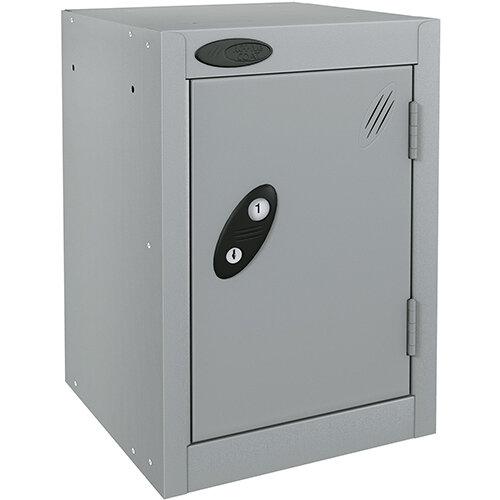 Probe Quarto 1 Door Small Locker Extra Deep ACTIVECOAT 305x460x480mm Silver Body &Doors