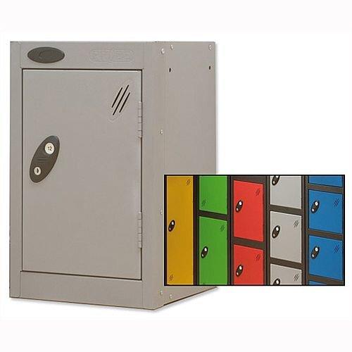 1 Door Small Locker Extra Deep Black Silver Trexus