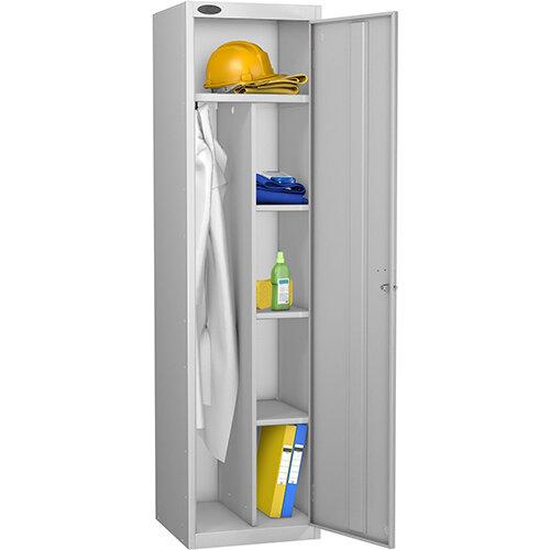 Uniform Locker Silver Body Silver Doors Probe