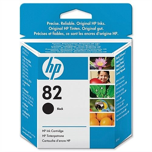 HP 82 Black Ink Cartridge 69ml CH565A