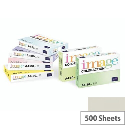 Image Coloraction Iceland Mid Grey A4 Paper 80gsm Pack of 500