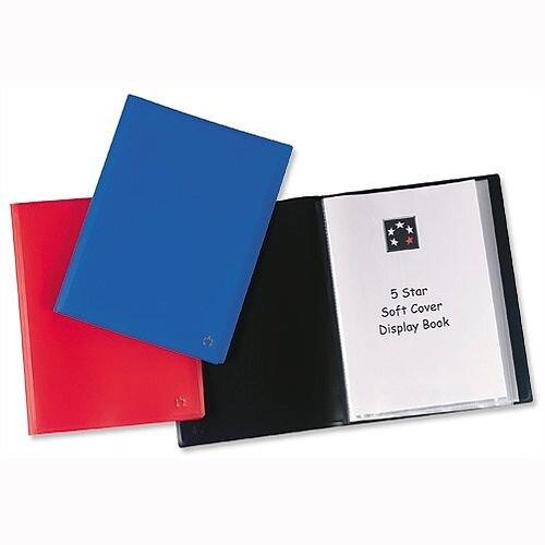 A4 Display Book Black Soft Cover 40 Pockets 5 Star