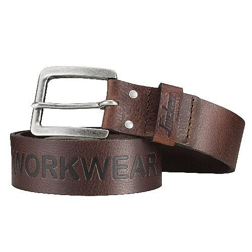 Snickers 9034 Leather Belt 130cm Brown