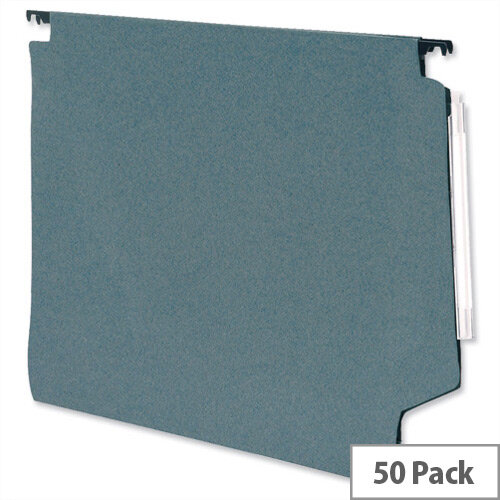 Lateral 330mm Files 15mm V Base 215gsm Manilla Green Pack 50 5 Star Ref 913268