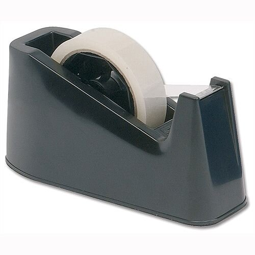 Black Desk Tape Dispenser Capacity 25mm 5 Star