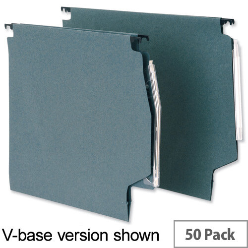 Lateral 275mm File 30mm Wide Base Green  215gsm Manilla Pack 50 5 Star Ref L930203
