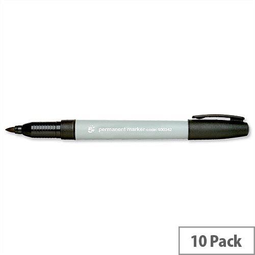 Black Permanent Marker Fine Line Pack 10 5 Star