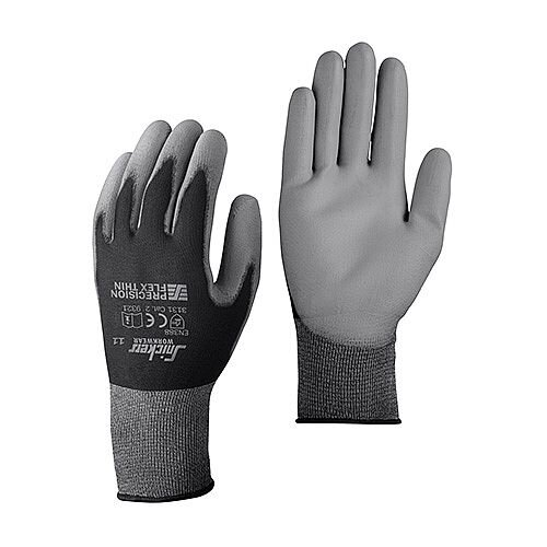 Snickers 9321 Precision Flex Light Gloves Size 8 Black/Grey [Pack of 10]