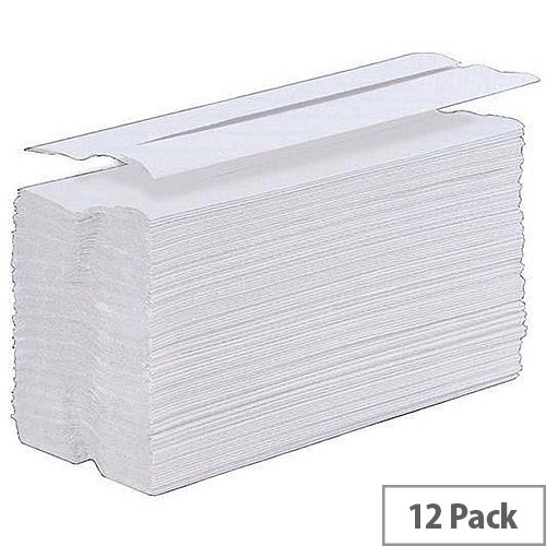 5 Star Paper Hand Towel C-Fold 1-Ply 12 Sleeves of 200 Towels White (2400 Sheets)