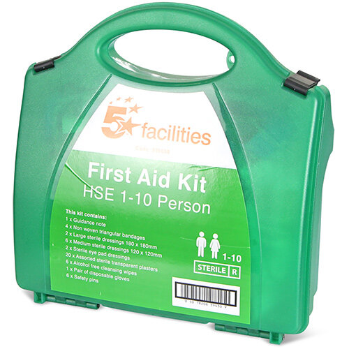 5 Star Traditional Green Box HS1 First-Aid Kit 1-10 Person