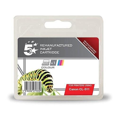 5 Star Canon CL-511 Colour Ink Cartridge