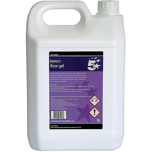 5 Star Facilities Lemon Floor Gel 5 Litre