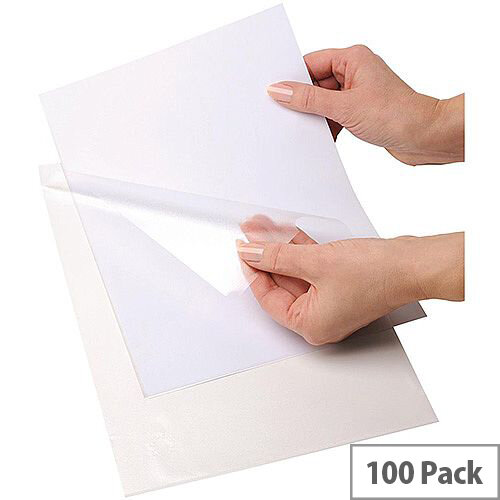 5 Star Office Folder 90 Micron A4 Glass Clear [Pack 100]