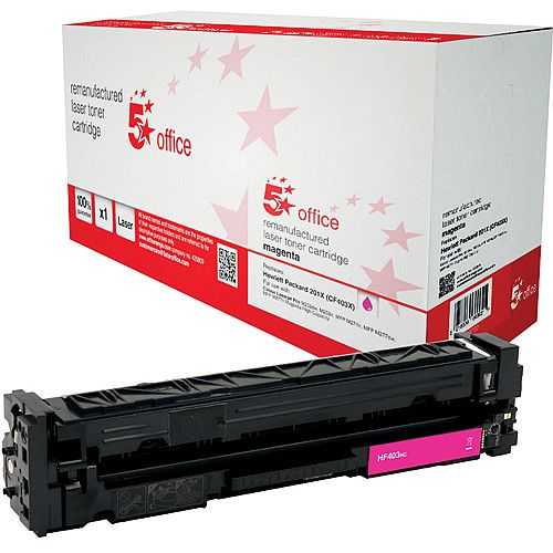 5 Star Office Remanufactured Laser Toner Cartridge Page Life 2300pp Magenta HP 201X CF403X Alternative