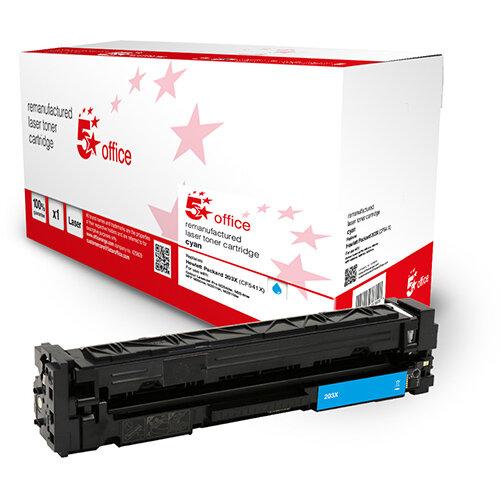 5 Star Office Remanufactured Toner Cartridge Page Life Cyan 2500pp [HP 203X CF541X Alternative]