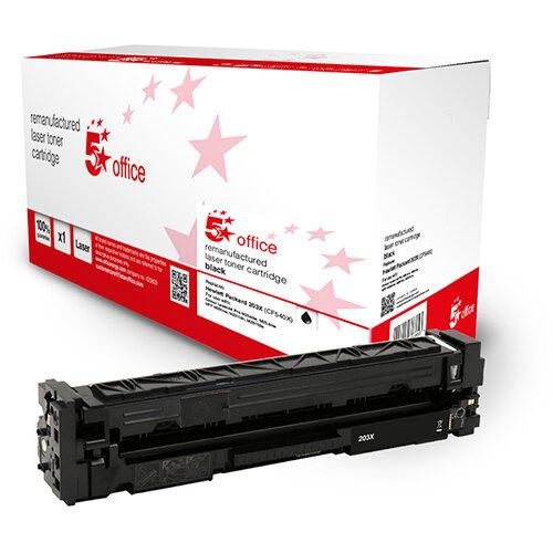 5 Star Office Remanufactured Toner Cartridge Page Life Black 3200pp [HP 203X CF540X Alternative]