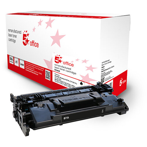 5 Star Office Remanufactured Toner Cartridge Page Life Black 9000pp [HP 87A CF287A Alternative]
