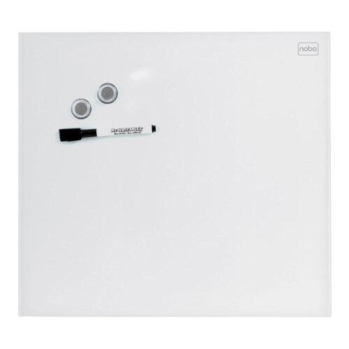 Nobo Diamond Glass Magnetic Whiteboard - Retail Pack 300x300mm White