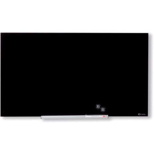 Nobo Diamond Glass Magnetic Whiteboard 677x381mm Black