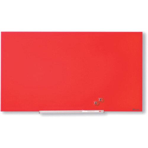 Nobo Diamond Glass Magnetic Whiteboard 677x381mm Red