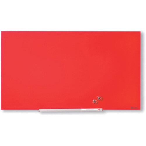 Nobo Diamond Glass Magnetic Whiteboard 1883x1059mm Red