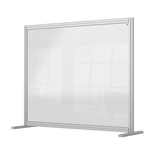 Nobo Premium Plus Clear Acrylic Protective Desk Divider Screen Modular System 1200x1000mm