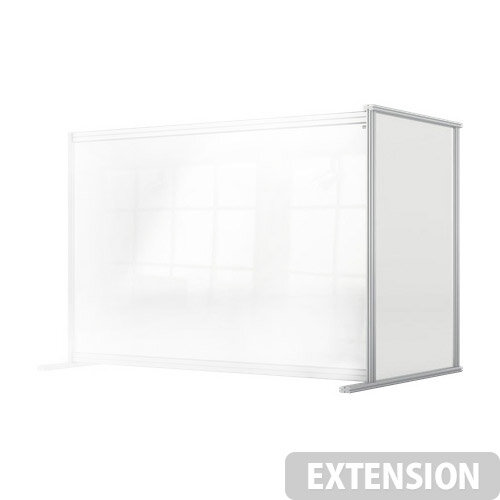 Nobo Premium Plus Clear Acrylic Protective Desk Divider Screen Modular System Extension 1400x1000mm