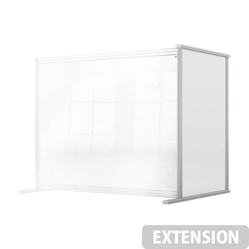 Nobo Premium Plus Clear Acrylic Protective Desk Divider Screen Modular System Extension 1200x1000mm
