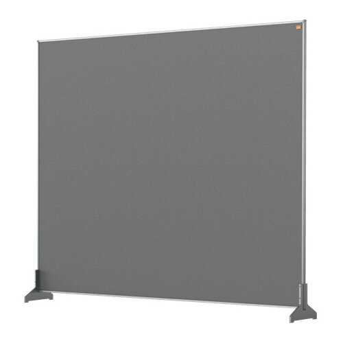 Nobo Impression Pro Desk Divider Screen Felt Surface 1200x1000mm Grey