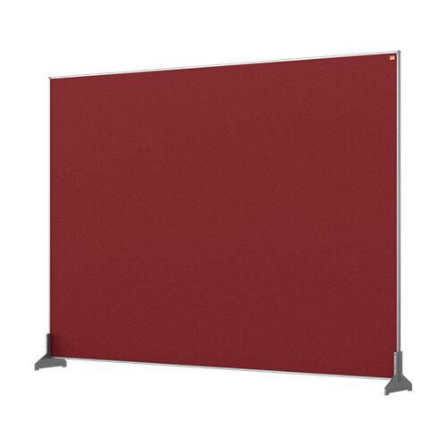 Nobo Impression Pro Desk Divider Screen Felt Surface 1400x1000mm Red