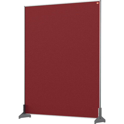 Nobo Impression Pro Desk Divider Screen Felt Surface 800x1000mm Red
