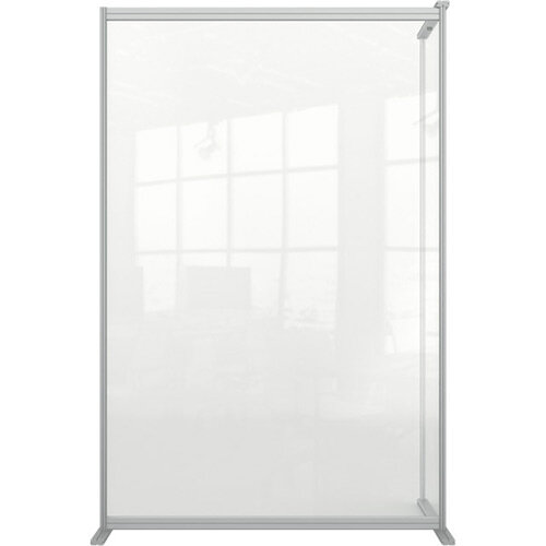 Nobo Premium Plus Clear Acrylic Protective Room Divider Screen Modular System Extension 1200x1800mm