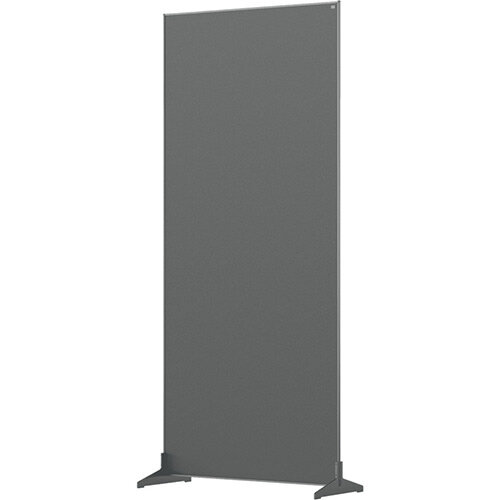 Nobo Impression Pro Free Standing Room Divider Screen Felt Surface 800x1800mm Grey