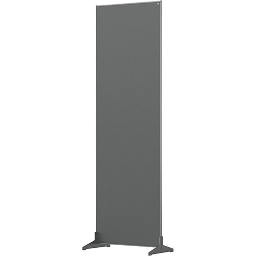 Nobo Impression Pro Free Standing Room Divider Screen Felt Surface 600x1800mm Grey