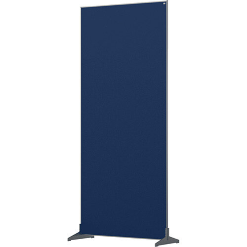 Nobo Impression Pro Free Standing Room Divider Screen Felt Surface 800x1800mm Blue
