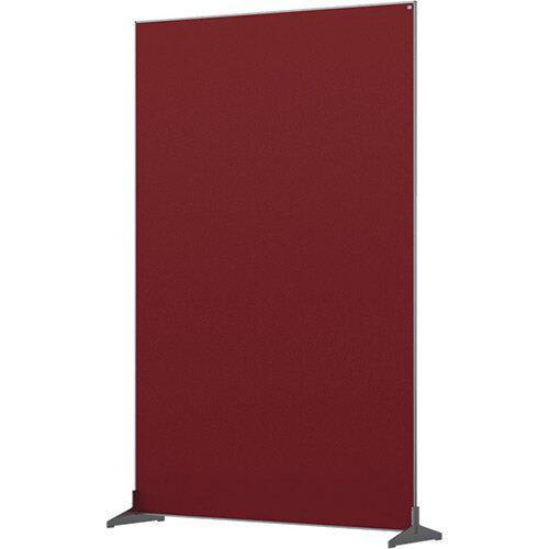 Nobo Impression Pro Free Standing Room Divider Screen Felt Surface 1200x1800mm Red