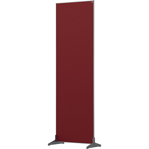 Nobo Impression Pro Free Standing Room Divider Screen Felt Surface 600x1800mm Red