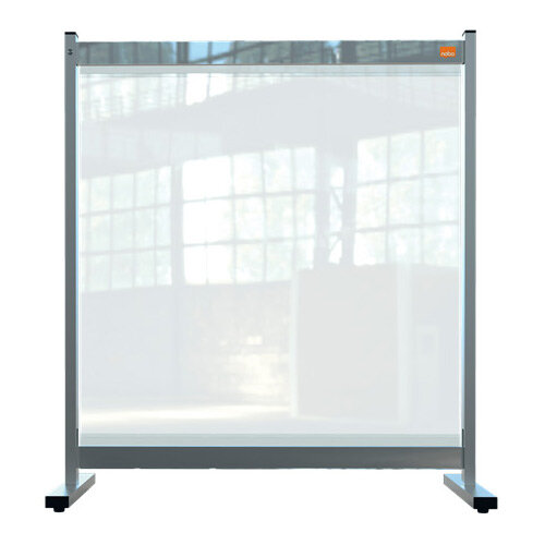 Nobo Premium Plus Clear PVC Protective Desk Divider Screen 770x860mm