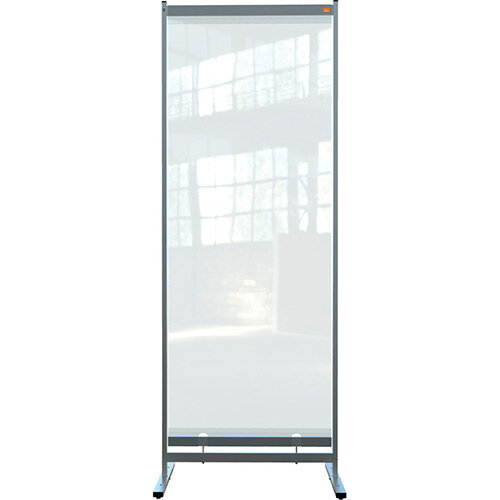 Nobo Premium Plus Clear PVC Free Standing Protective Full Length Room Divider Screen 780x2060mm