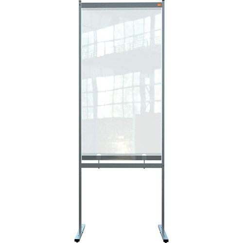 Nobo Premium Plus Clear PVC Free Standing Protective Screen Divider 780x2060mm