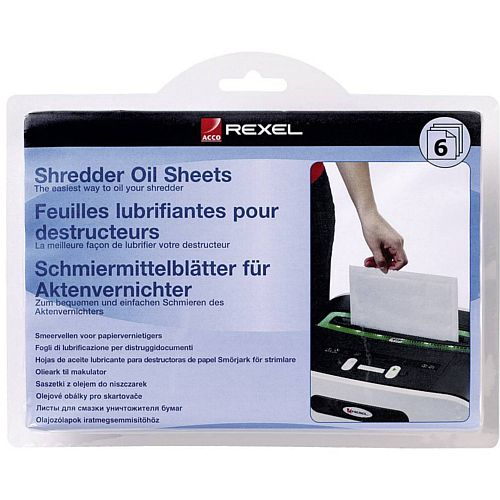 Rexel Shredder Oil Sheets (Pack of 6)