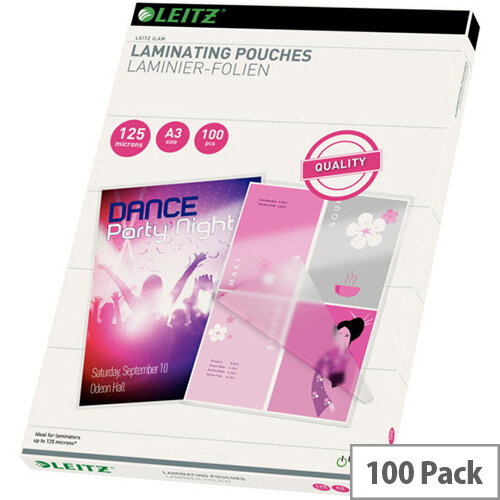Leitz iLAM Laminating Pouches A3 125 Microns Pack of 100