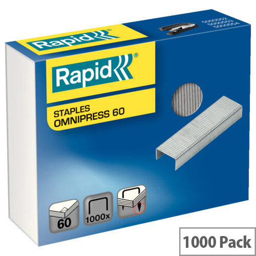 Rapid Omnipress 60 Staples Pack of 1000