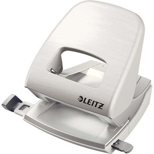 Leitz New NeXXt Style Metal Office Hole Punch 30 Sheet Capacity Arctic White