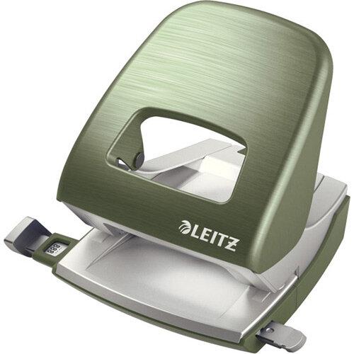 Leitz New NeXXt Style Metal Office Hole Punch 30 Sheet Capacity Celadon Green