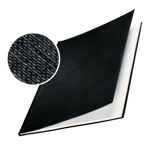 Leitz impressBIND Hard Covers, 17.5 mm - Matt Linen Surface, A4, 141-175 Sheet, Dim. 216x22x302 - Colour: Black (Pack of 10)