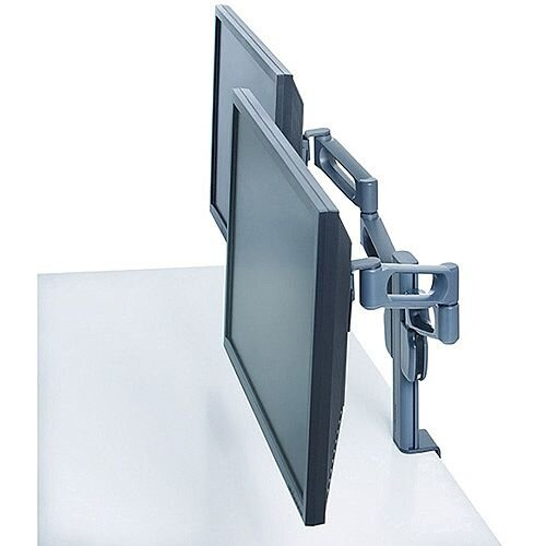 "Kensington Smart Fit Dual Monitor Arm VESA Mount Compatible for up to 24"" Screen"
